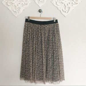 A new day leopard tulle knee length skirt